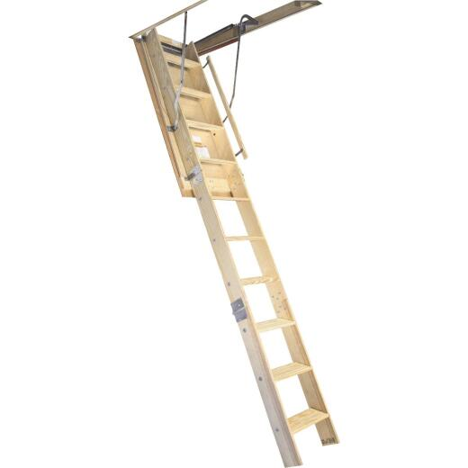 Louisville Champion 7 Ft. to 8 Ft. 9 In. 25-1/2 In. x 54 In. Wood Attic Stairs, 300 Lb. Load