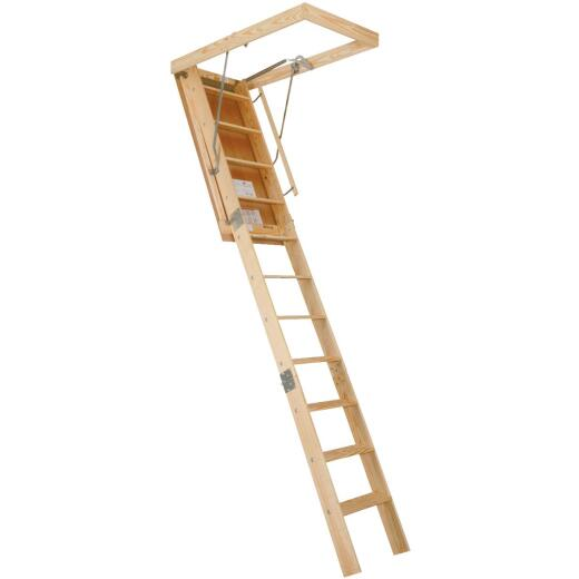Louisville Champion 8 Ft. 9 In. 25-1/2 In. x 54 In. Wood Attic Stairs, 300 Lb. Load