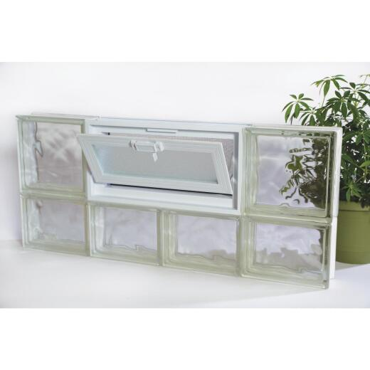 Clear Choice 32 In. W. x 16 In. H. Vented Glass Block Window