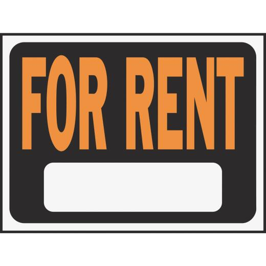 Hy-Ko Plastic Sign, For Rent