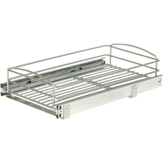 Knape & Vogt Real Solutions 11 In. Silver Multi-Use Pull-Out Basket Cabinet Organizer