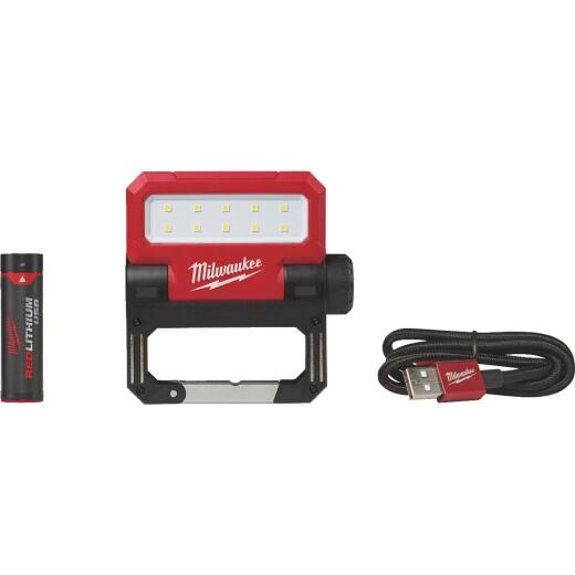 Milwaukee ROVER REDLITHIUM USB Rechargeable Pivoting Flood Cordless Work Light