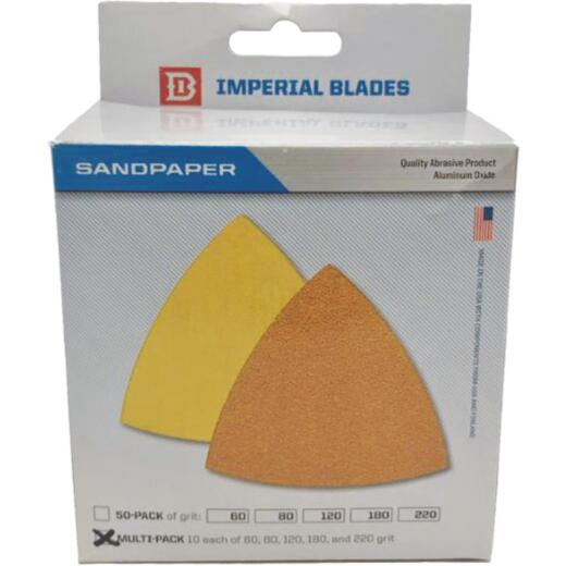 Imperial Blades ONE FIT Oscillating Triangle Sandpaper Variety Pack (50-Pack)