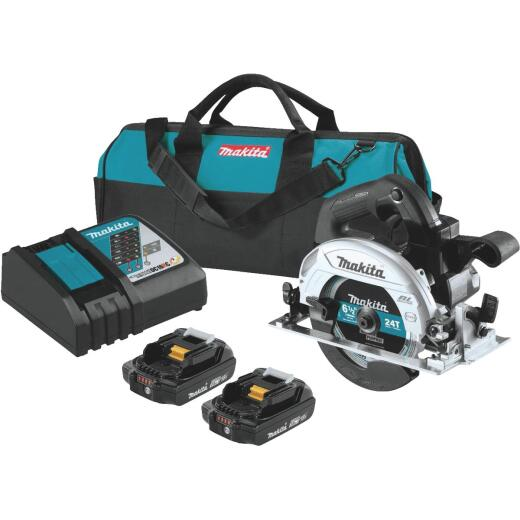 Makita 18 Volt LXT Lithium-Ion Brushless 6-1/2 In. Sub-Compact Cordless Circular Saw Kit