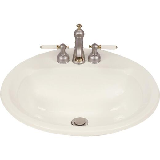 Mansfield Maverick I Round Drop-In Bathroom Sink, Biscuit