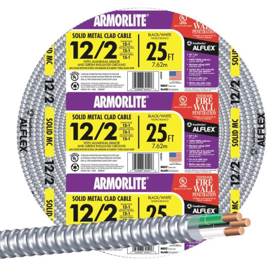 Southwire 25 Ft. 12/2 MC Armored Cable