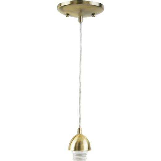 Westinghouse 1 Bulb Antique Brass Incandescent Pendant Light Fixture