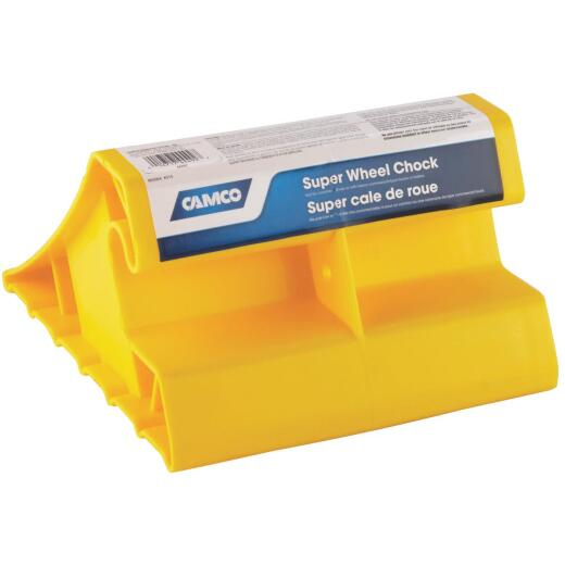 Camco Yellow Polypropylene Super RV Wheel Chock