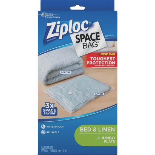 Ziploc Jumbo Space Bag Vacuum Seal Storage Bag (2 Count)