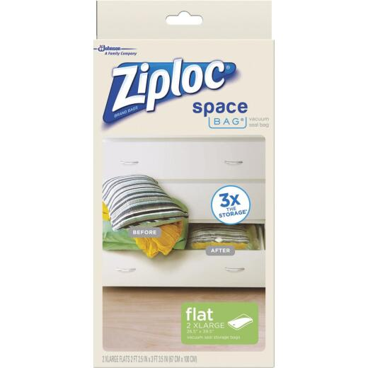 Ziploc 2XL Large Space Bag Vacuum Seal Storage Bag (2 Count)