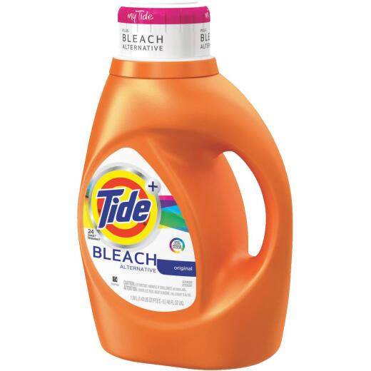 Tide+ 46 Oz. 24 Load Bleach Alternative 2X Liquid Laundry Detergent