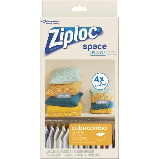 Ziploc Vacuum Seal Cube Combo Space Bag, 2-Pack