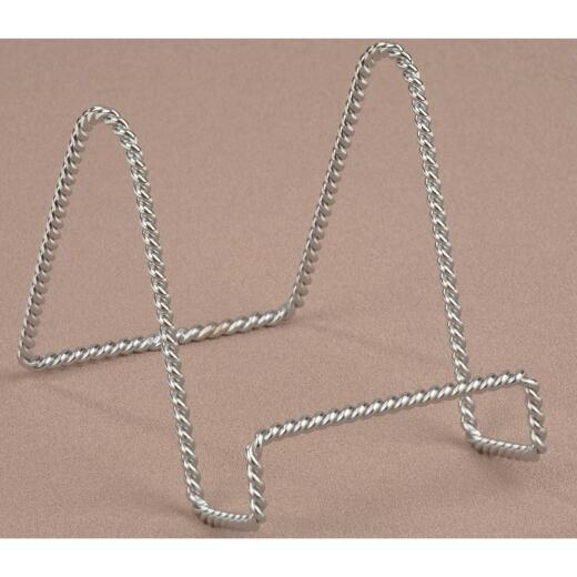 Tripar 4 In. Chrome Twisted Wire Plate Stand