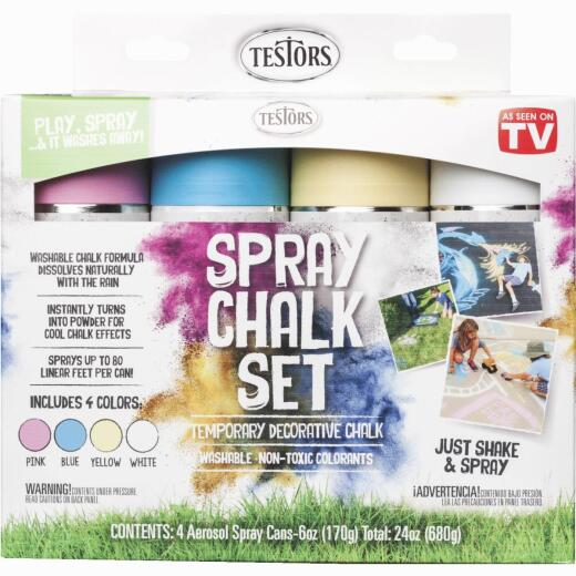 Rust-Oleum Testors Spray Chalk Set (4-Pack)
