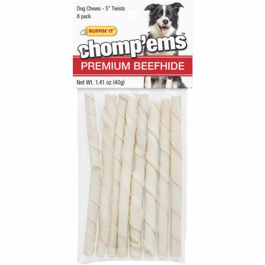 Westminster Pet Ruffin' it Chomp'ems 5 In. Beef Chew Roll (8-Pack)