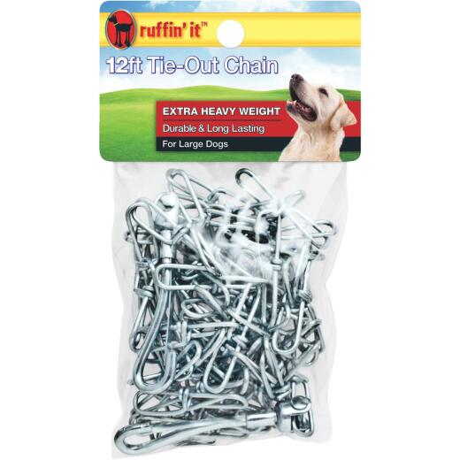 Westminster Pet Ruffin' it Extra Heavy Weight Large Dog Tie-Out Chain, 12 Ft.