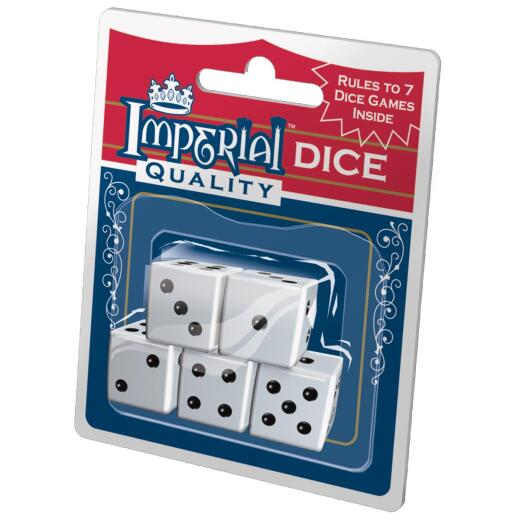Imperial Quality White Dice (5-Pack)